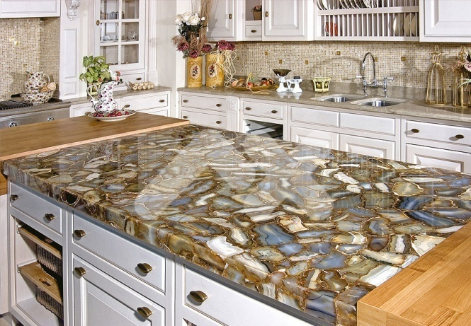Кухонные столешницы из натурального камня: красиво и прочно5