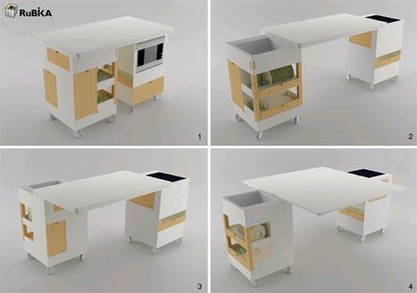 Кухонный гарнитур и обеденный стол в одном0