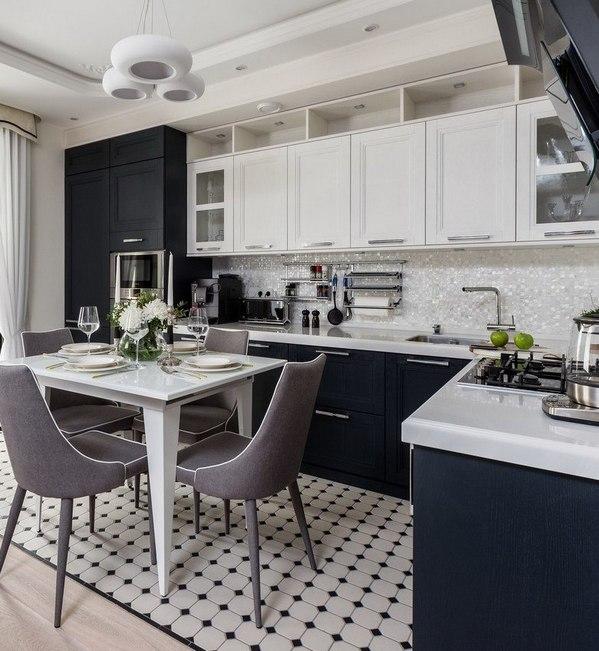 Кухонный гарнитур и обеденный стол в одном1