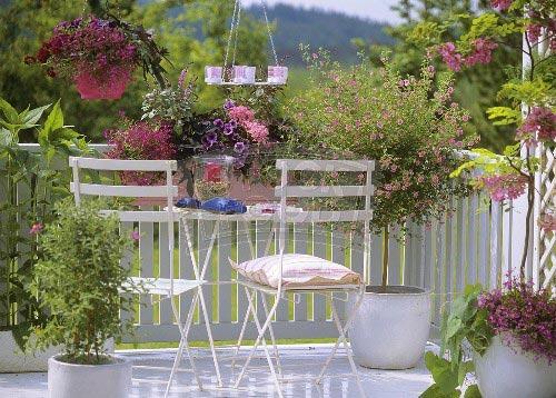 Летний мини-сад — цветущие балконы и террасы5