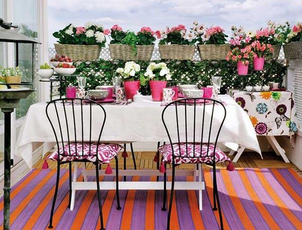 Летний мини-сад — цветущие балконы и террасы6