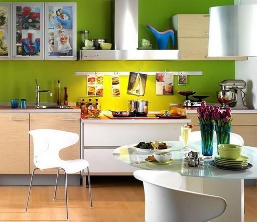 Лучшее сочетание цветов на кухне3