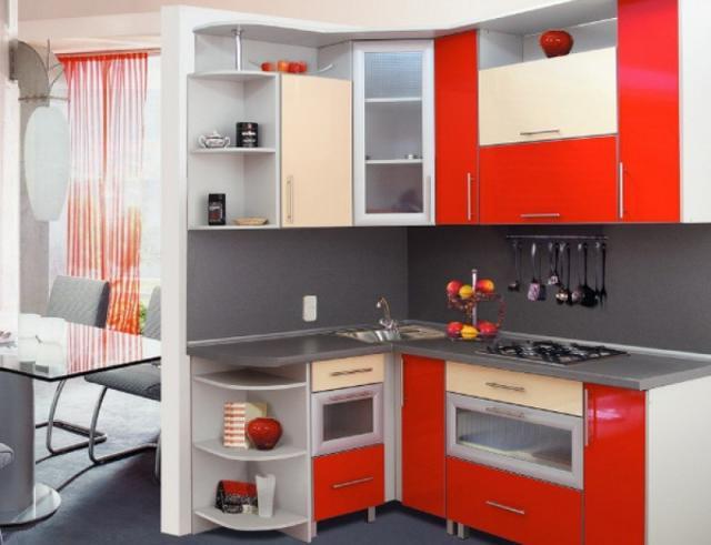 Маленькие угловые кухни1