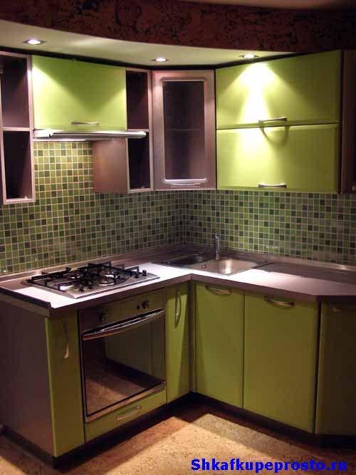 Маленькие угловые кухни2