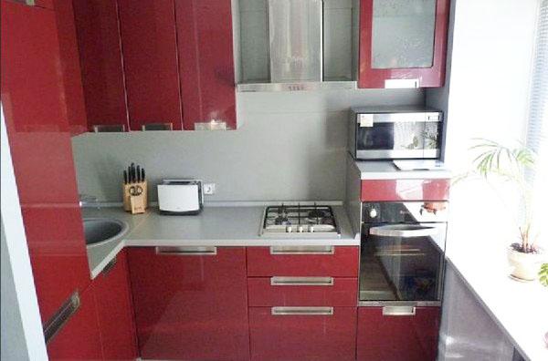 Маленькие угловые кухни5