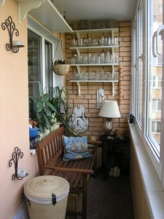 Маленький балкон: дизайн и фото3