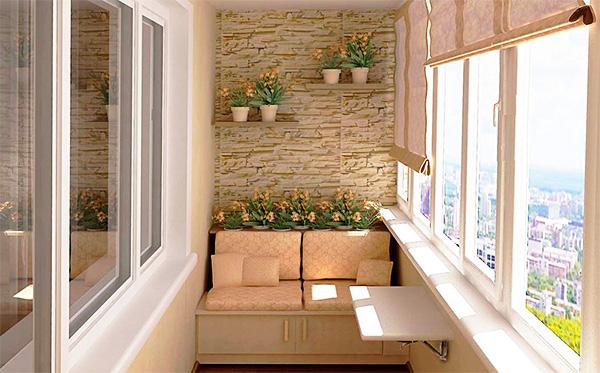 Маленький балкон: дизайн и фото5