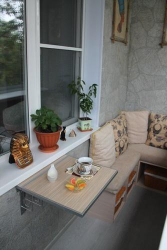 Маленький балкон: дизайн и фото6