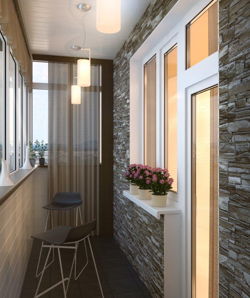 Маленький балкон: дизайн и фото0