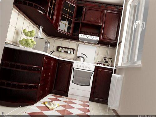 Малогабаритные кухни 4-5 кв. м.3