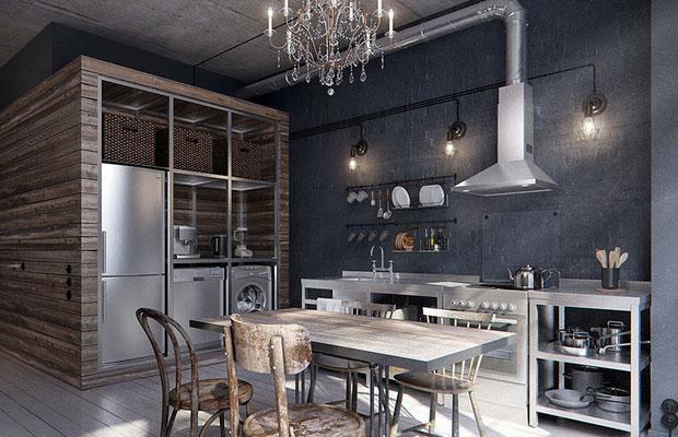 Металл в интерьере домов и квартир0