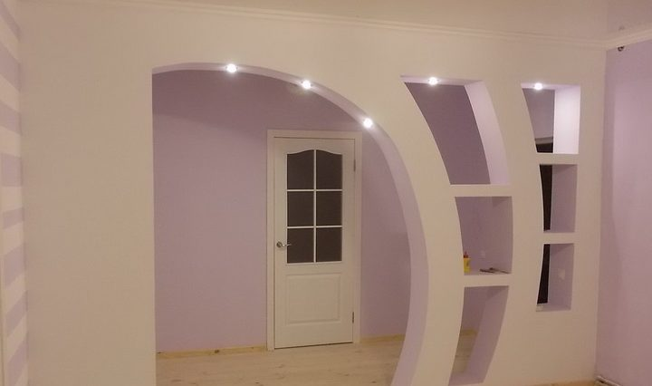 Межкомнатная арка: тип, форма, материал изготовления1
