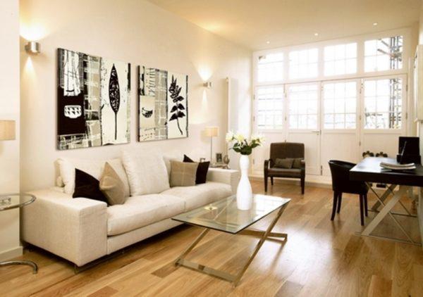 Модульные картины в интерьере различных комнат0