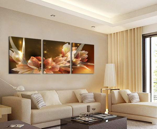 Модульные картины в интерьере различных комнат4