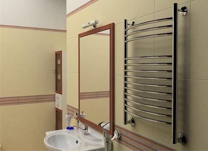 Монтаж водяного и электрического полотенцесушителя3