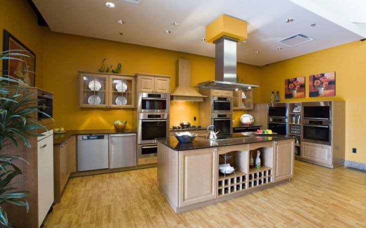Моющаяся краска для стен кухни: разновидности материала и технология окрашивания3