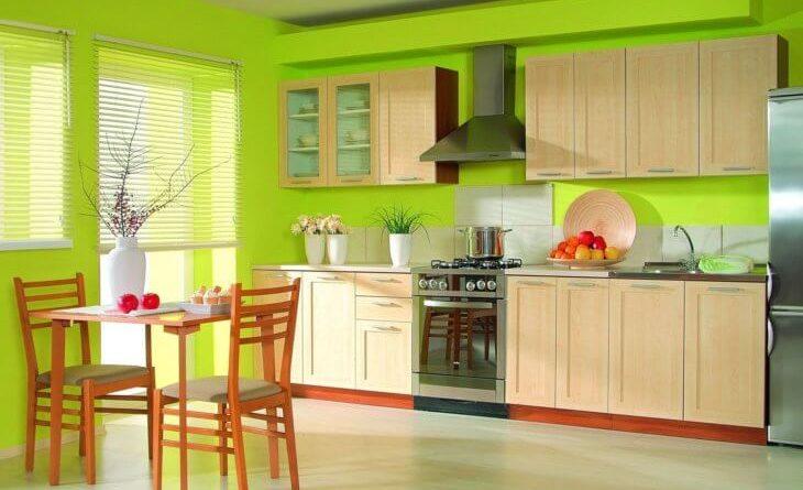 Моющаяся краска для стен кухни: разновидности материала и технология окрашивания0