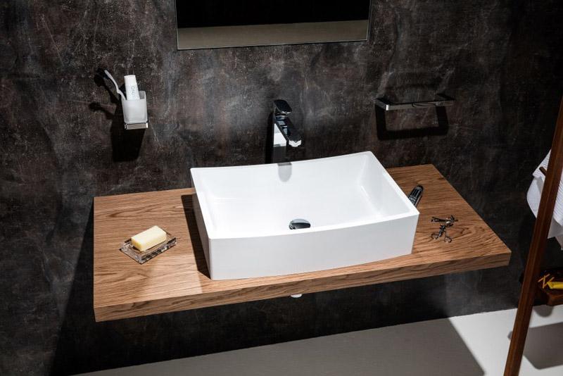 Накладная каменная раковина – атрибут эксклюзивной ванной комнаты1