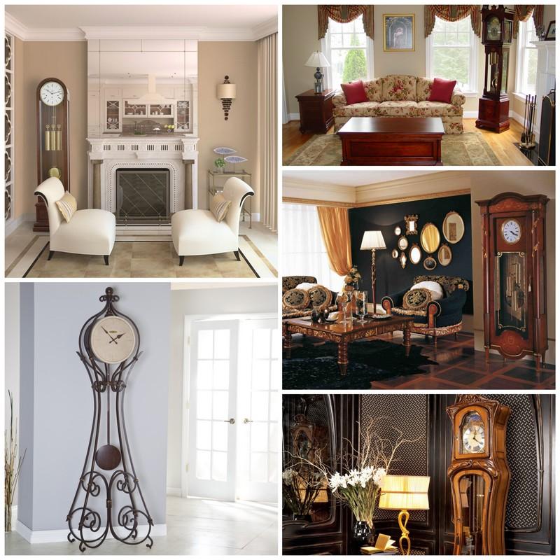 Напольные часы в интерьере вашего дома1