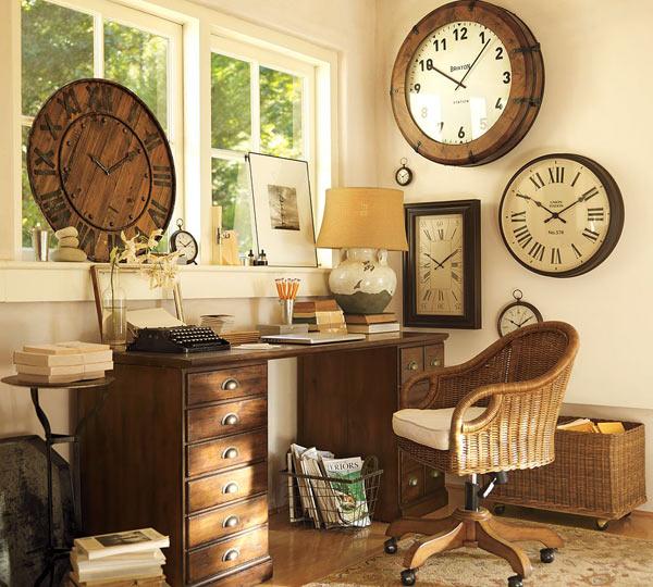 Настенные часы в интерьере дома1