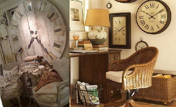 Настенные часы в интерьере дома4