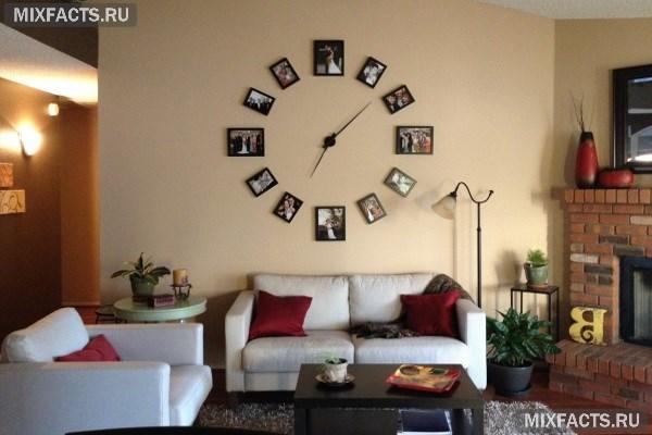 Настенные часы в интерьере дома6