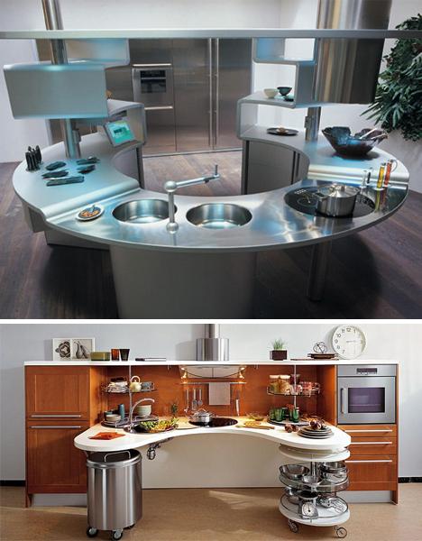 Нестандартные рабочие места на кухне0