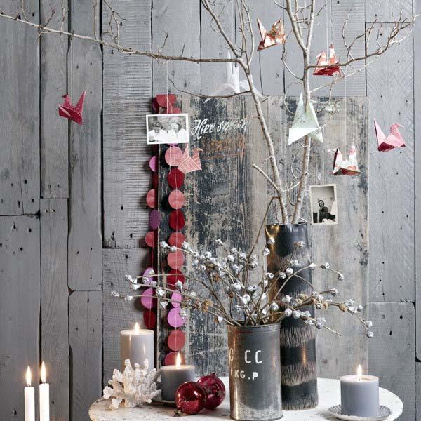 Новогоднее украшение дома: нарядные веточки3