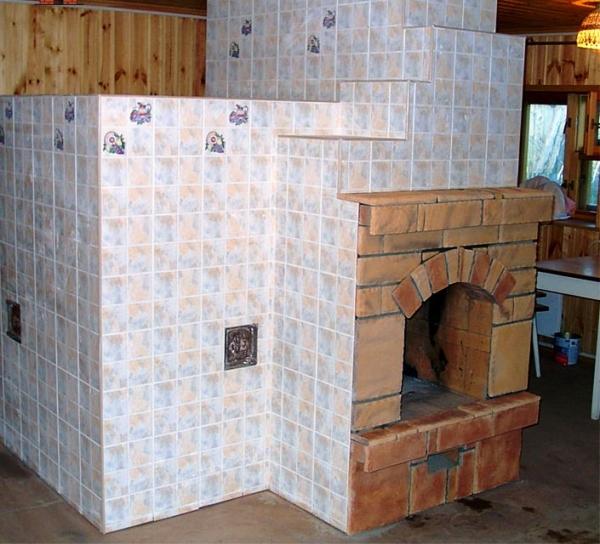 Облицовка печи керамической плиткой: делаем своими руками4