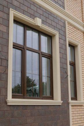 Обрамление и отделка окон на фасаде и в интерьере3
