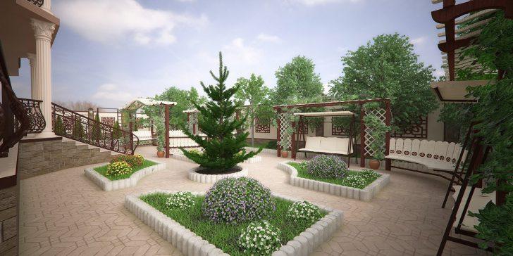 Обустройство придомовой территории частного дома — создаем свой дизайн5