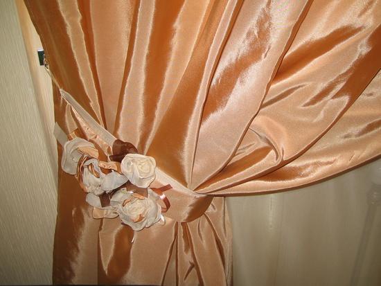 Подхваты для штор: выкройка с кольцом и с цветком (фото)0