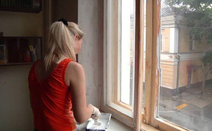 Покраска деревянных окон: технология выполнения работ своими руками1