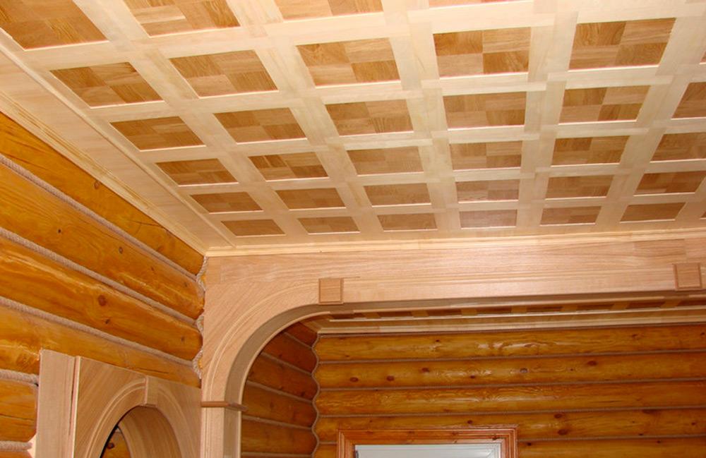 Потолок из фанеры0