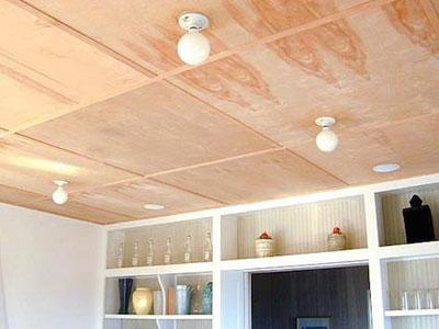 Потолок из фанеры4
