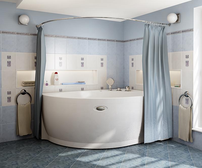 Практичные шторки для ванной0