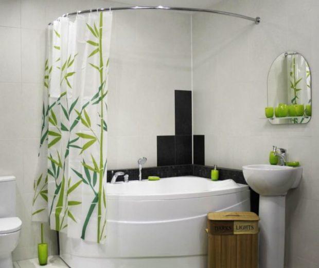 Практичные шторки для ванной2