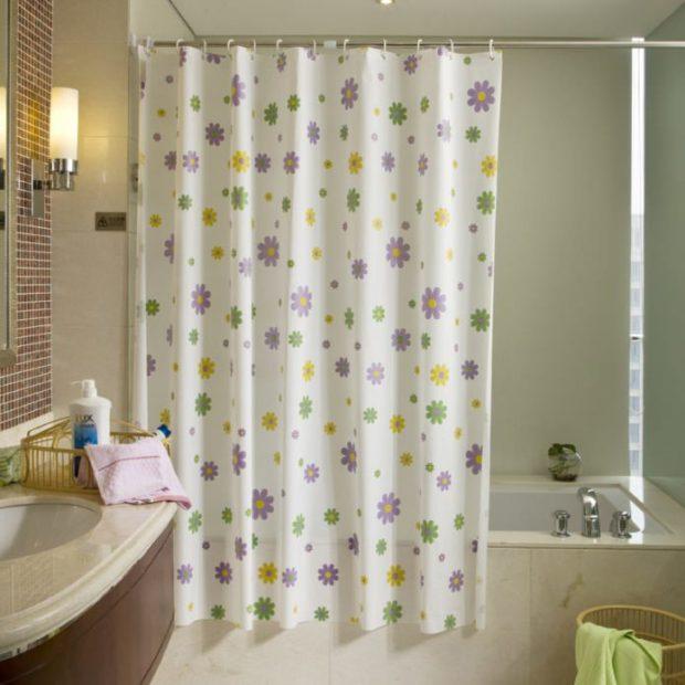 Практичные шторки для ванной5