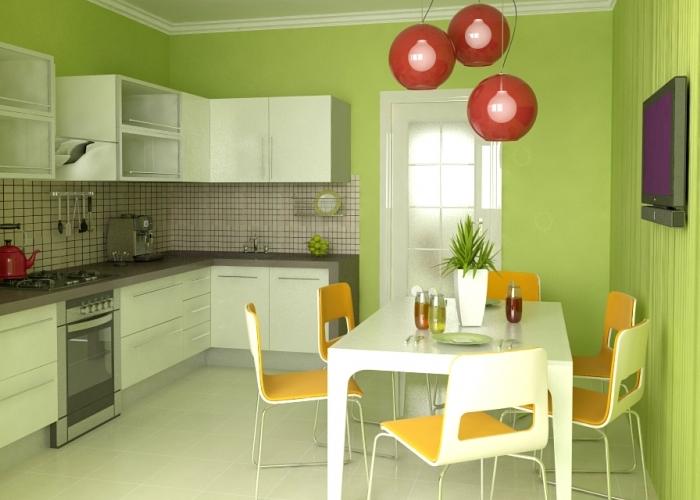 Практика применения обоев под покраску на кухне1