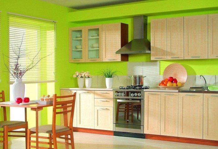 Практика применения обоев под покраску на кухне4