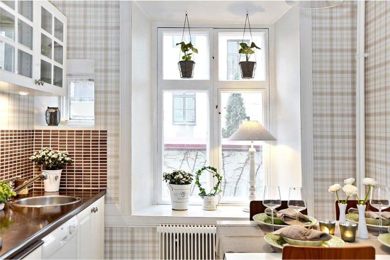 Применение флизелиновых обоев для кухни1