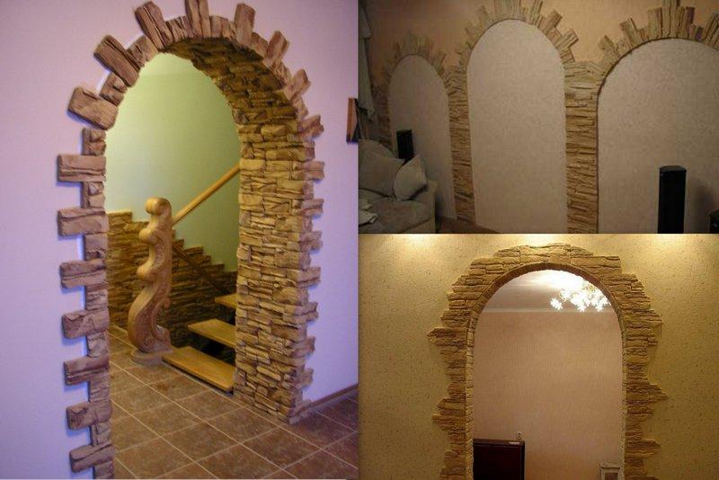 Самостоятельная отделка арок декоративным камнем: преимущества, варианты оформления4