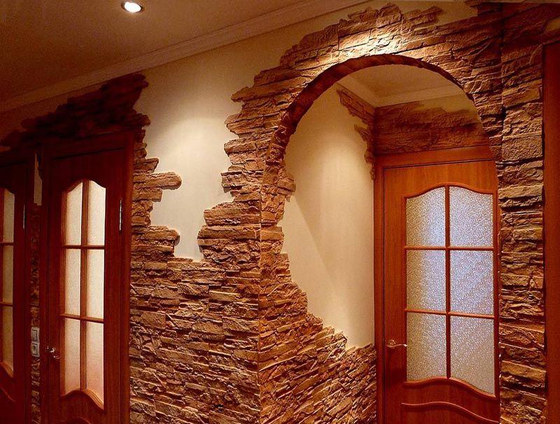 Самостоятельная отделка арок декоративным камнем: преимущества, варианты оформления5