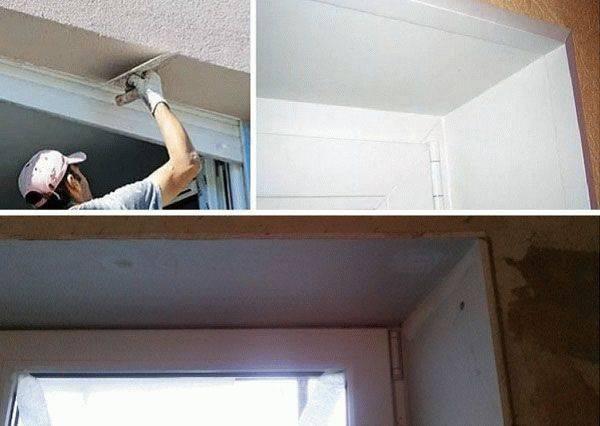 Способы ремонта откосов после установки пластиковых окон5