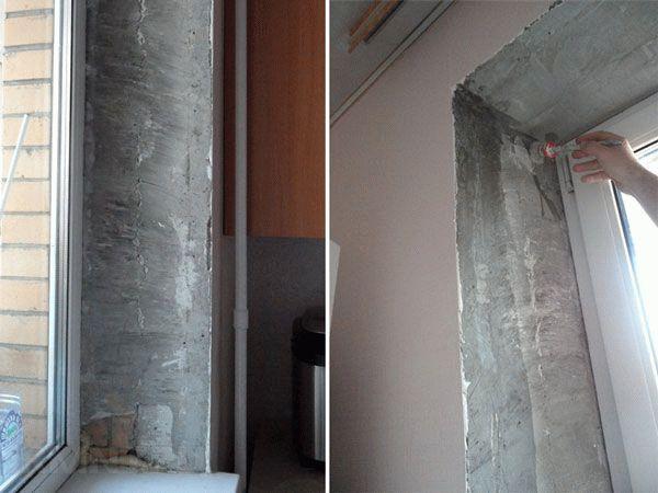Способы ремонта откосов после установки пластиковых окон6
