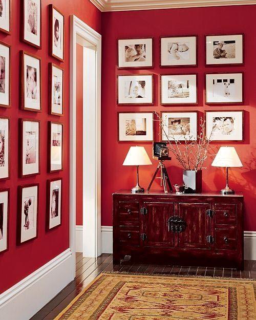 Страстный красный! как использовать красный цвет в интерьере0