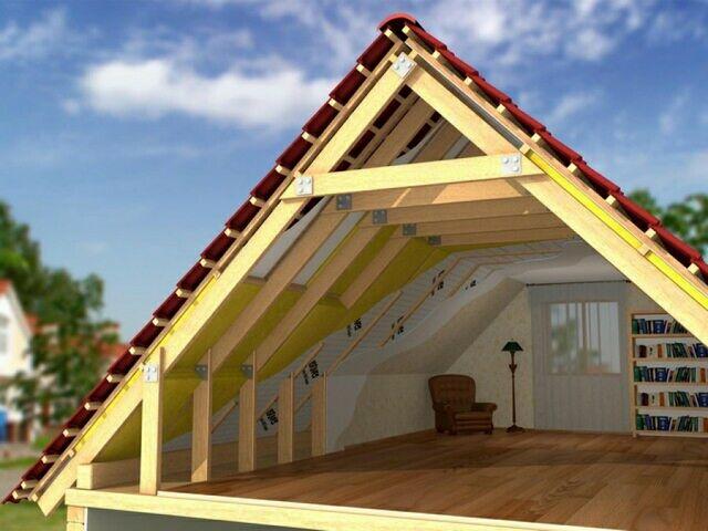 Строительство мансардной крыши своими руками1