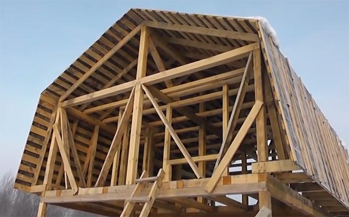 Строительство мансардной крыши своими руками5