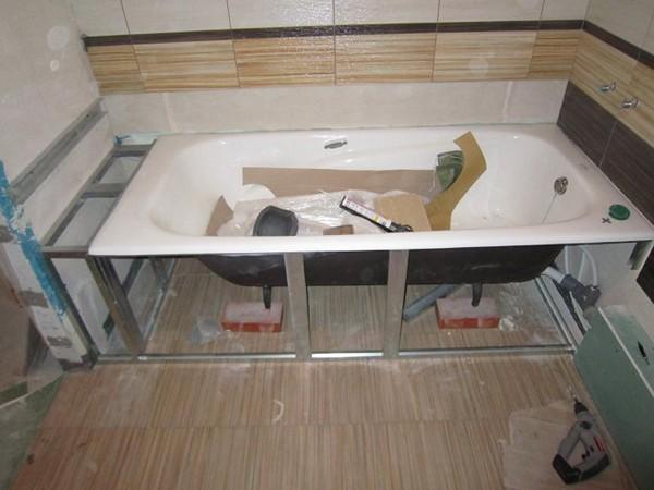 Установка ванны0