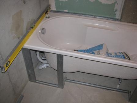 Установка ванны2